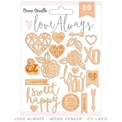 Cocoa Vanilla Love Always Wood Veneer