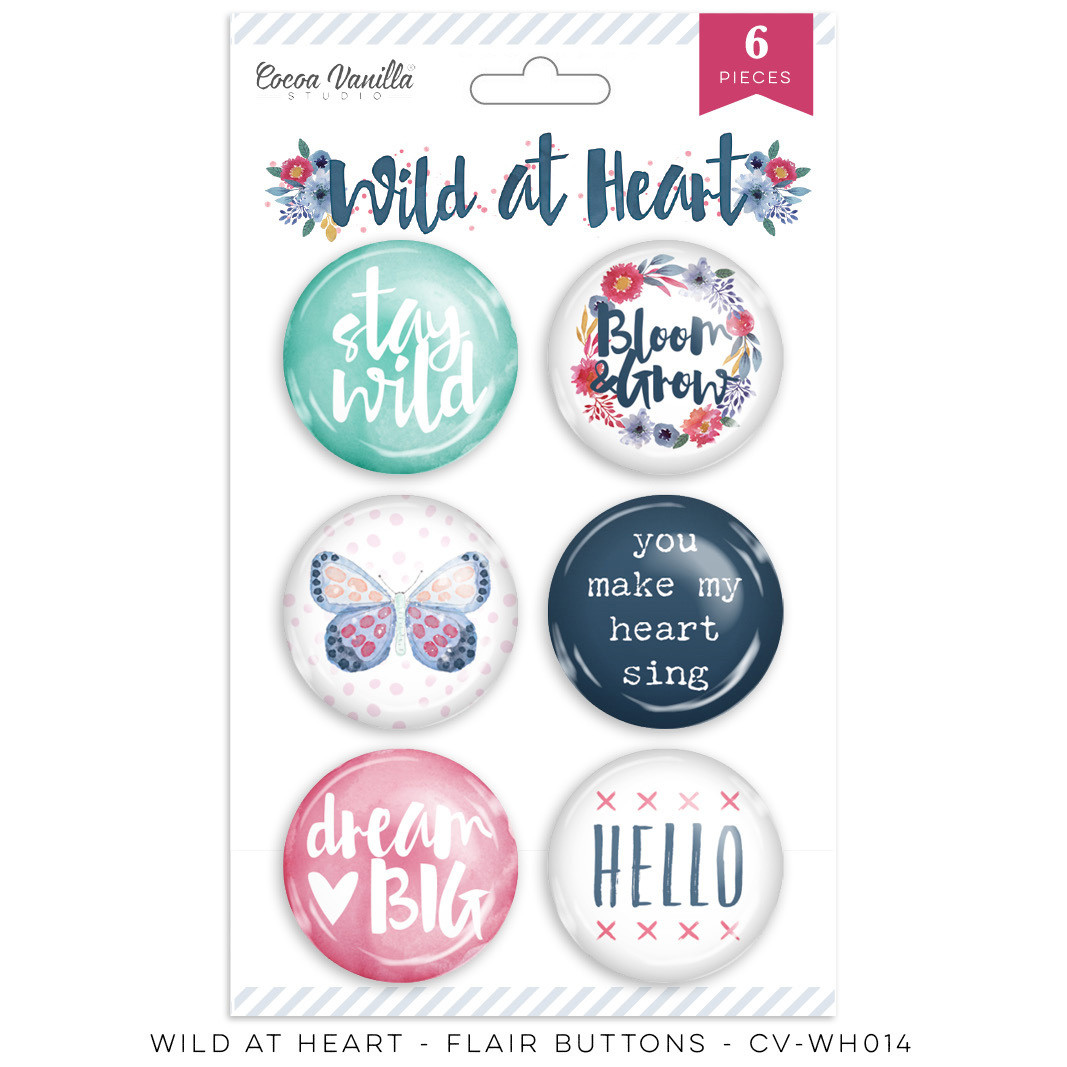 Cocoa Vanilla Wild At Heart Flair Buttons