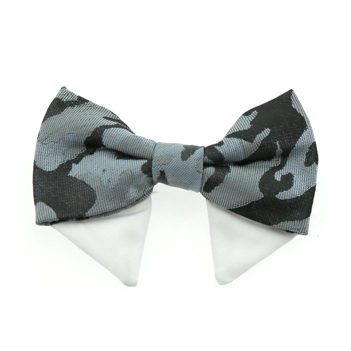Universal Dog Bow Tie - Gray Camo