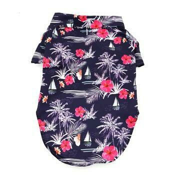 Hawaiian Camp Shirt - Moonlight Sails