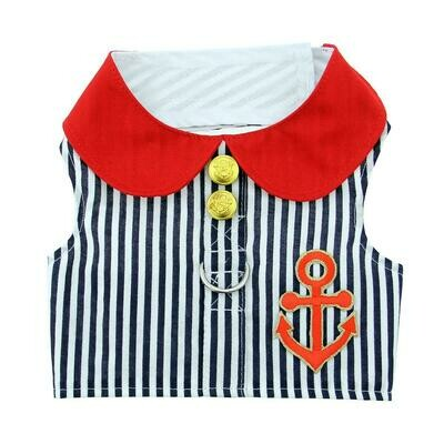 Sailor Boy Fabric Harness with Matching Leash