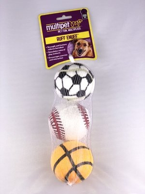 "2.5"" Sports Balls - 3 pk. in Mesh Bag Soccer, Baseball, Basketball"