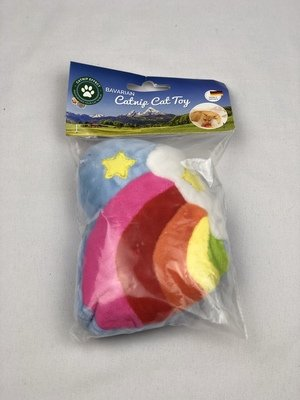 Colorful Heart w/Rainbow Catnip Toy