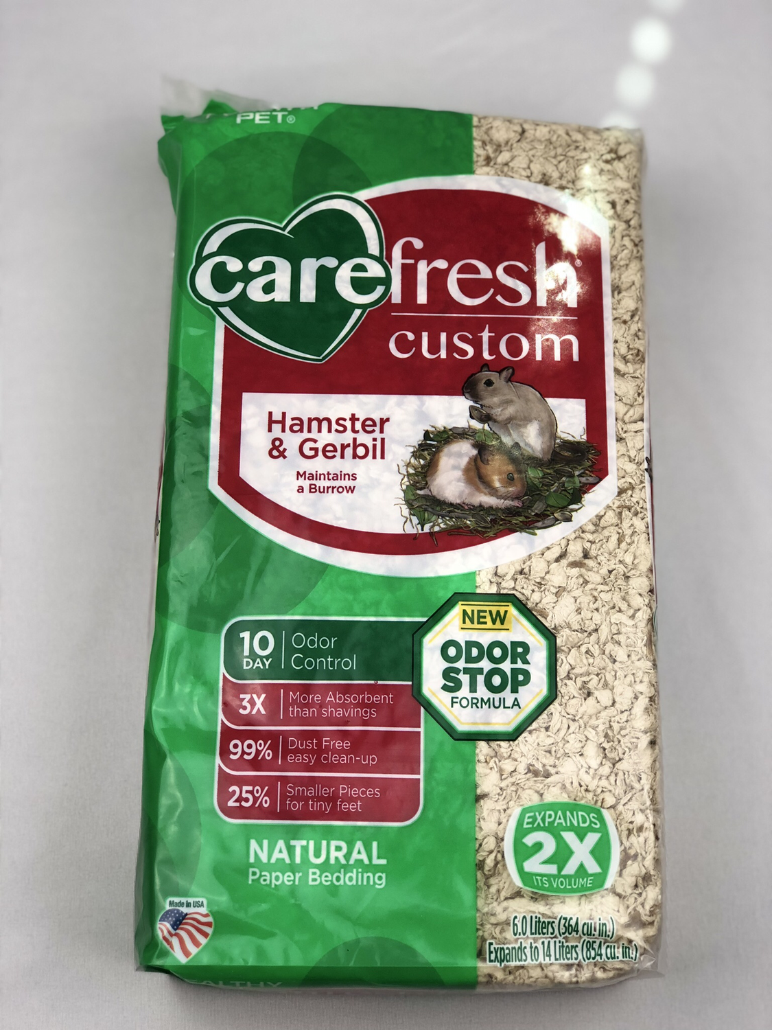 Carefresh Custom Hamster/Gerbil Bedding - Natural