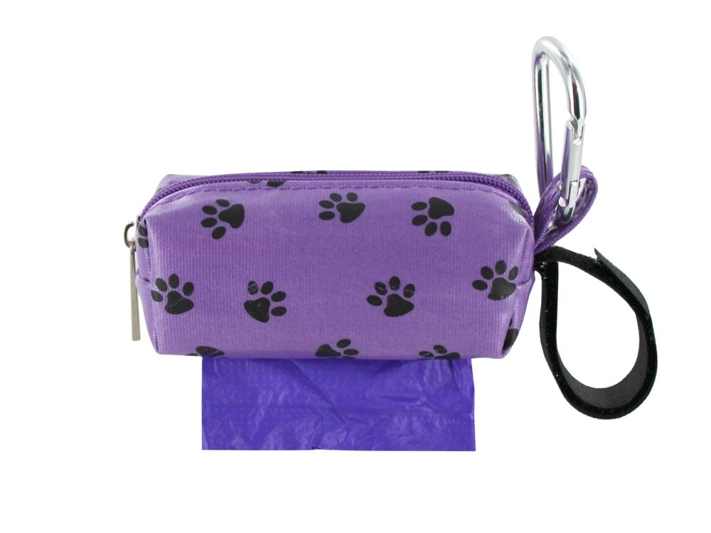 Purple w/ Black Paws Duffel (Prints)