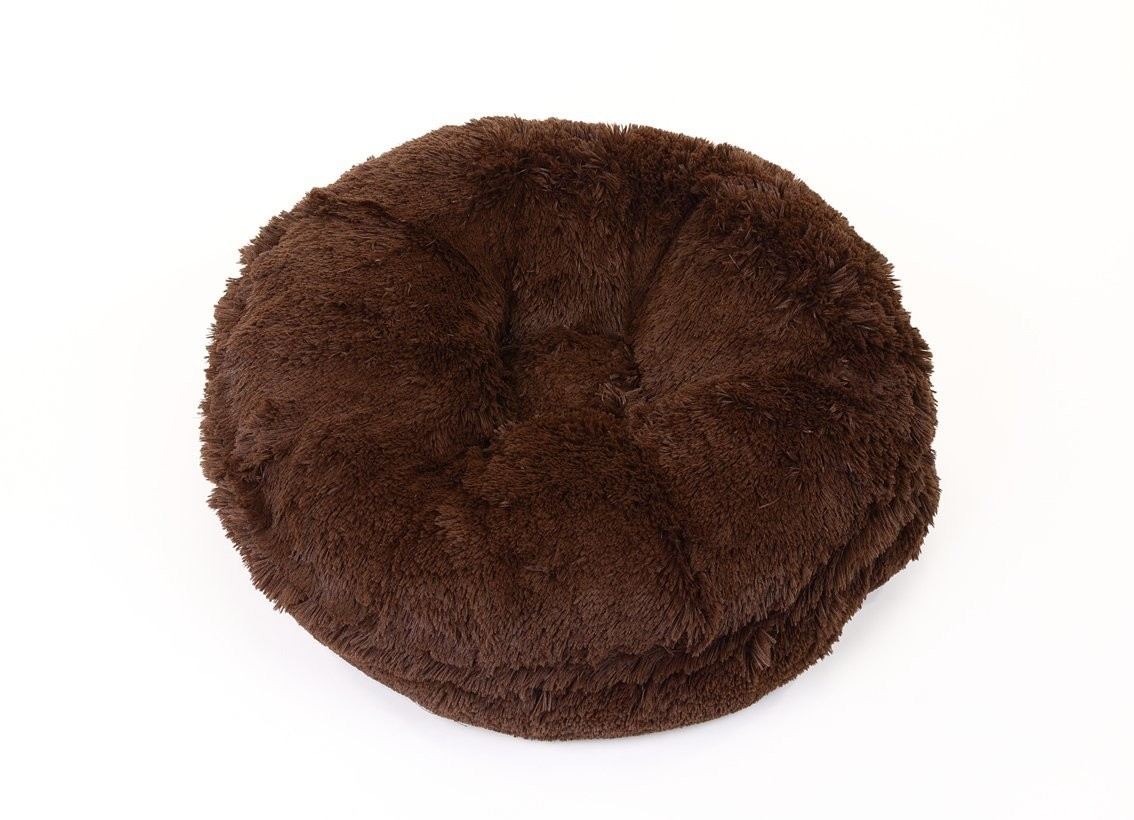 Chocolate Shag Bagel Bed