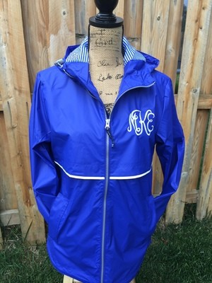 Charles River New Englander Rain Jacket - Royal