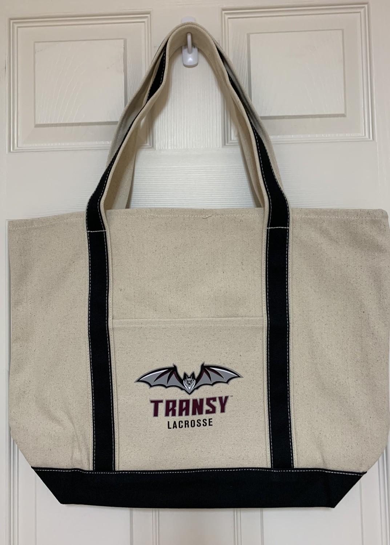 Canvas Tote Bag - Transy Lacrosse