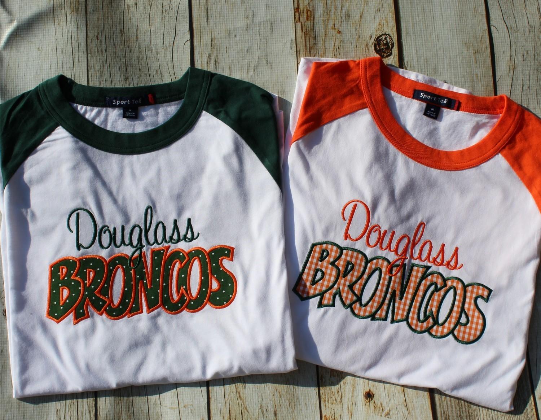 Douglass Broncos Raglan T-shirt
