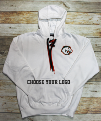 Lace Up Hoodie with Choice of Logo