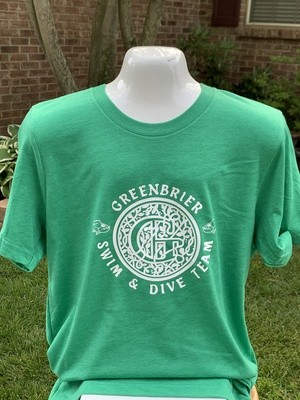 Bella+Canvas short sleeve t-shirt with choice of Greenbrier Logo