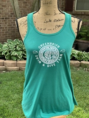 Bella+Canvas Flowy Tank with choice of Greenbrier Logo