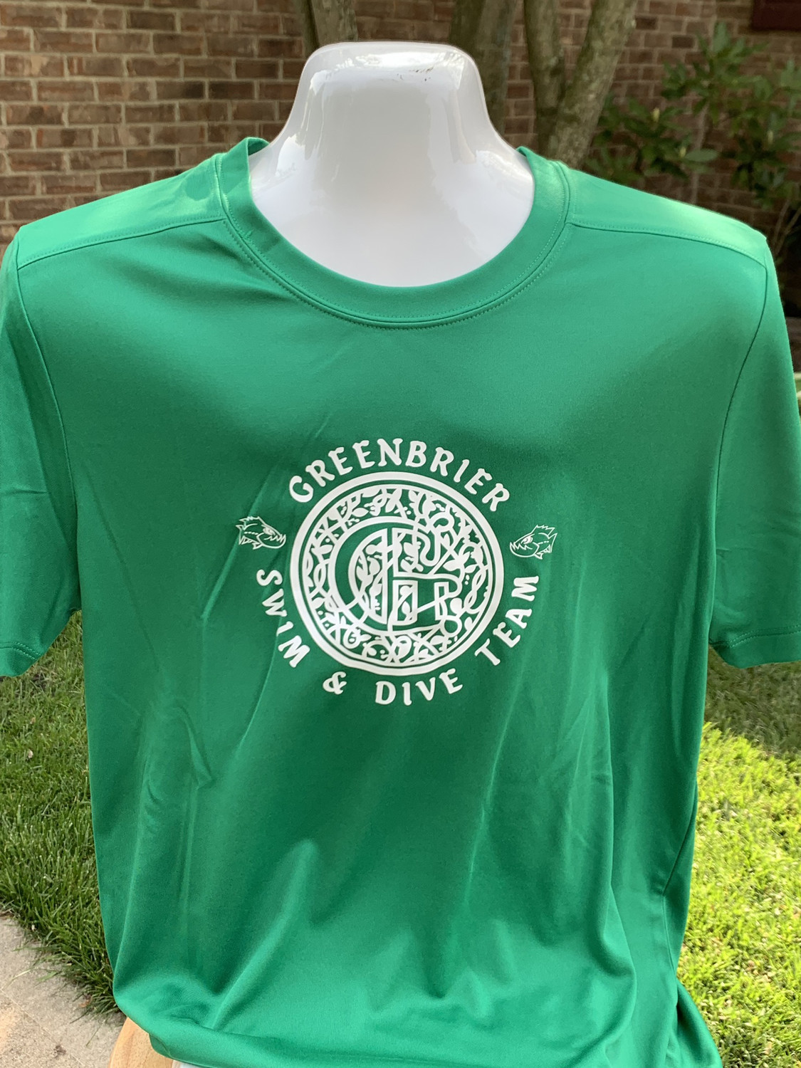 Sport-Tek Posi-UV short sleeve with choice of Greenbrier Logo
