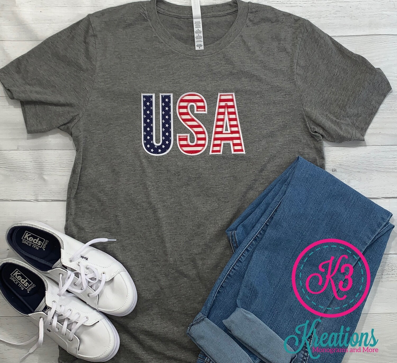 Stars & Stripes USA Short Sleeve T-shirt (Choice of Shirt Brand)
