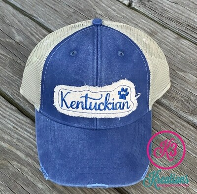 Kentuckian Distressed Trucker Hat