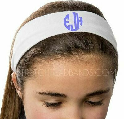 Stretch Headband with Monogram