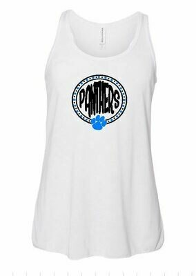 Panthers Dots Racerback Tank - Youth and Adult