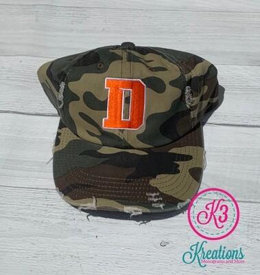 Distressed Camo Hat - Douglass D