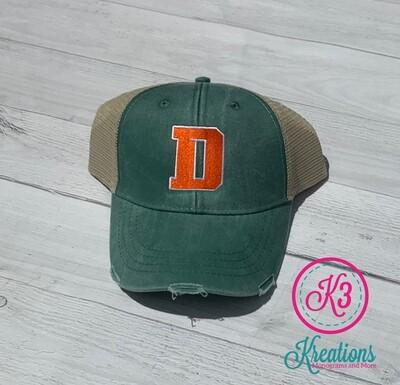 Distressed Trucker Hat - Douglass D