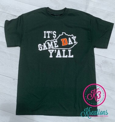 It's Game Day Y'all Short Sleeve T-shirt - 3 Color Options (Youth and Adult)