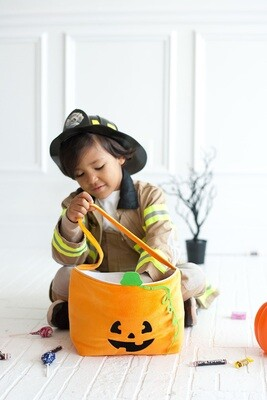 Pumpkin Plush Bucket