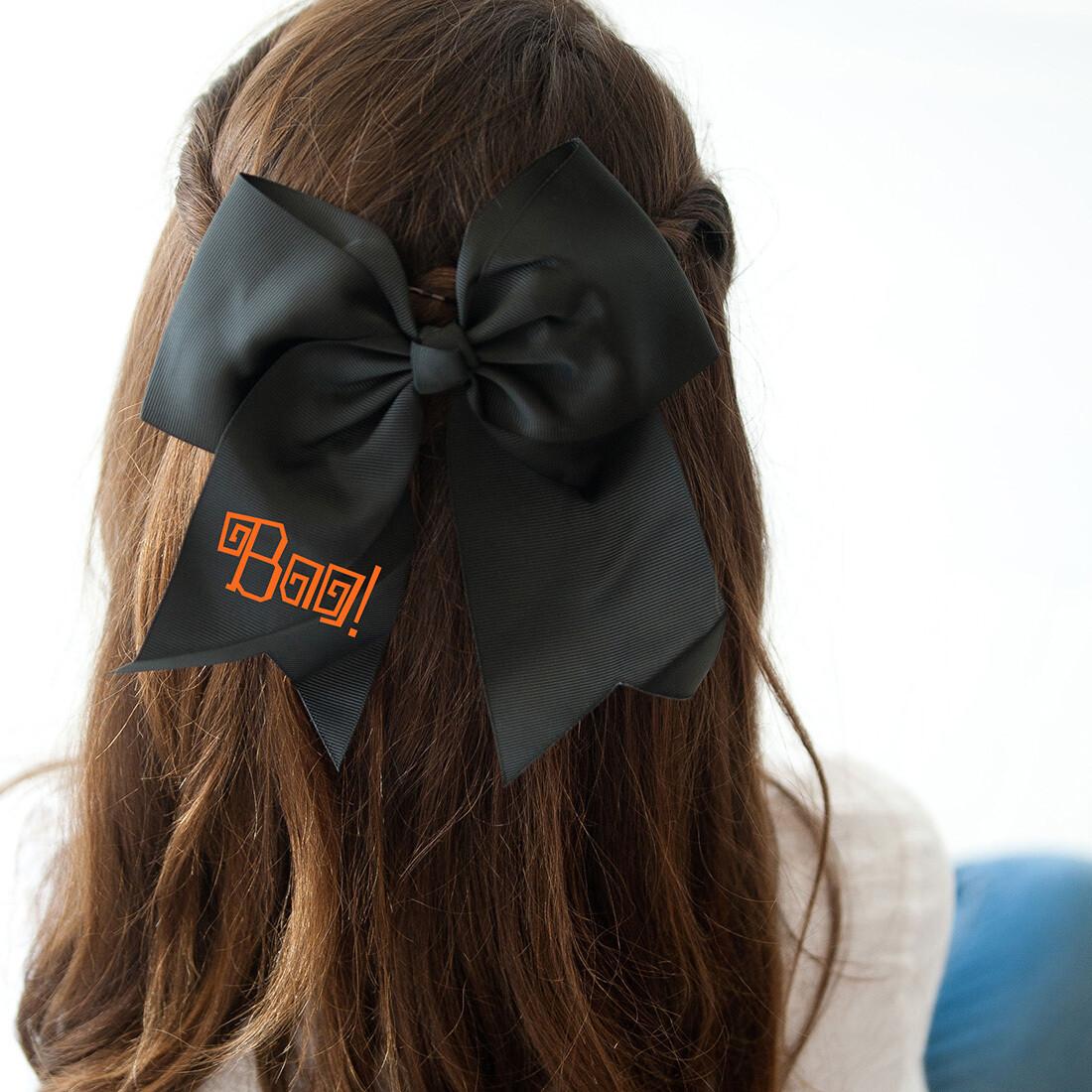 Boo! Black Hair Bow