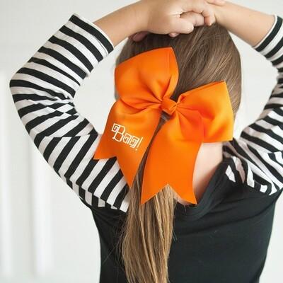 Boo! Orange Hair Bow