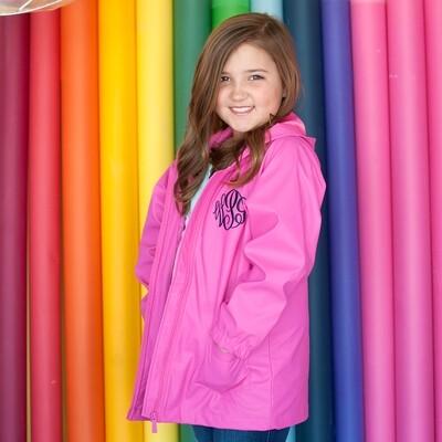 Hot Pink Kids' Rain Jacket