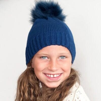 Navy Kids' Bella Hat