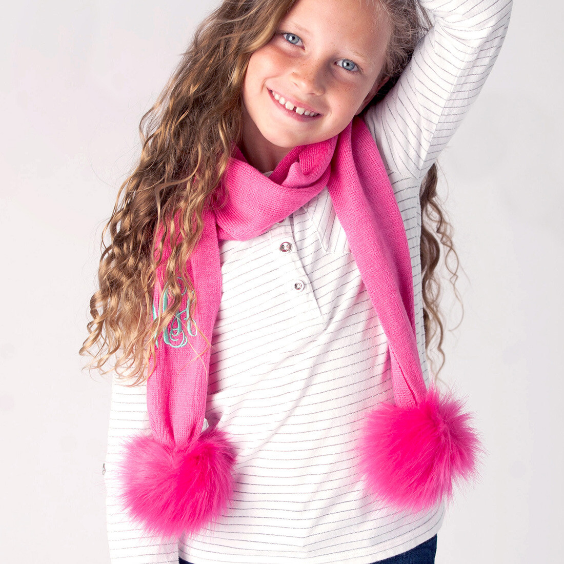 Hot Pink Kids' Bella Scarf
