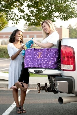Purple Scattered Dot Ultimate Tote
