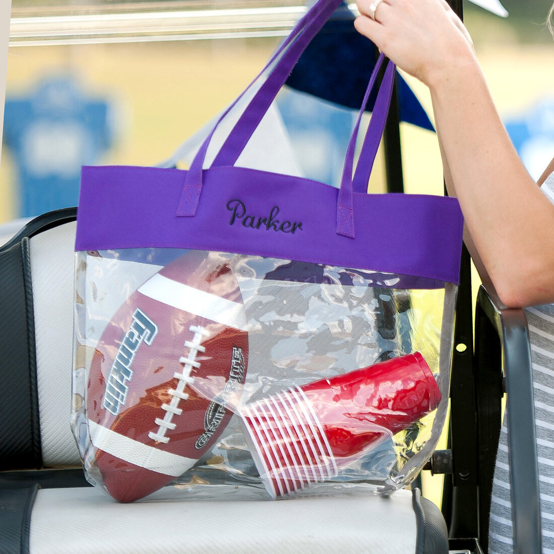 Purple Clear Tote
