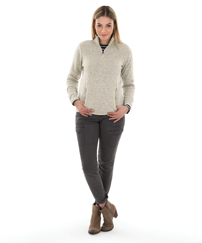Ladies Heathered Fleece Pullover