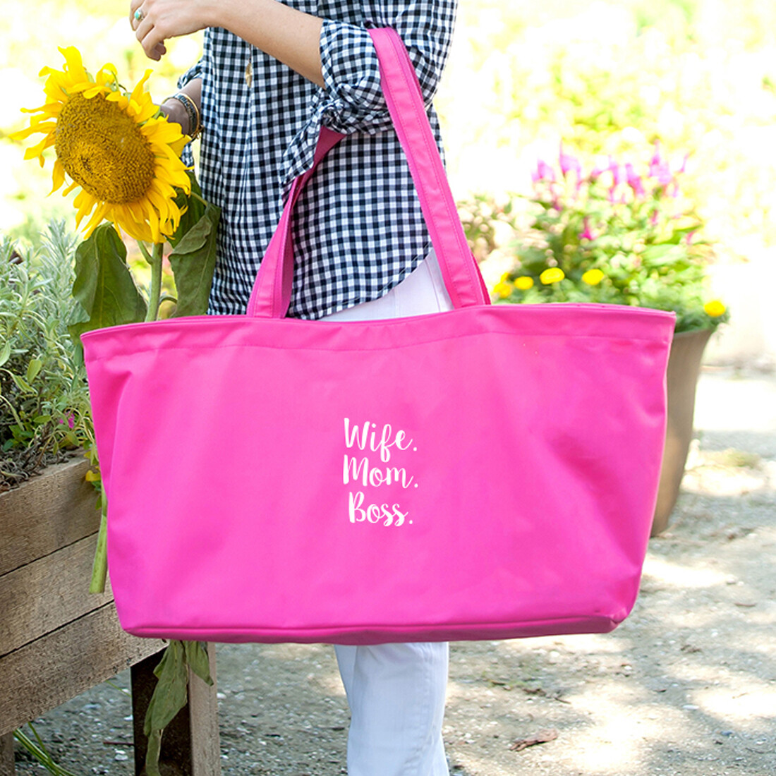 Wife.Mom.Boss Hot Pink Ultimate Tote