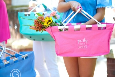 Party Like a Survivor Hot Pink Market Tote