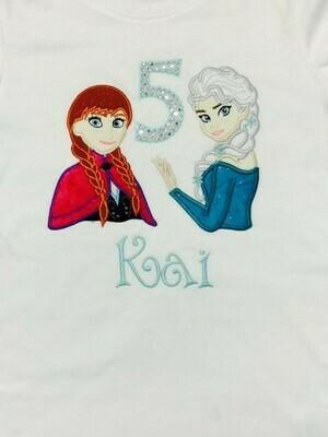 Elsa & Anna Birthday Shirt