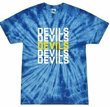 Devils Stacked Tie Dye Short Sleeve T-Shirt