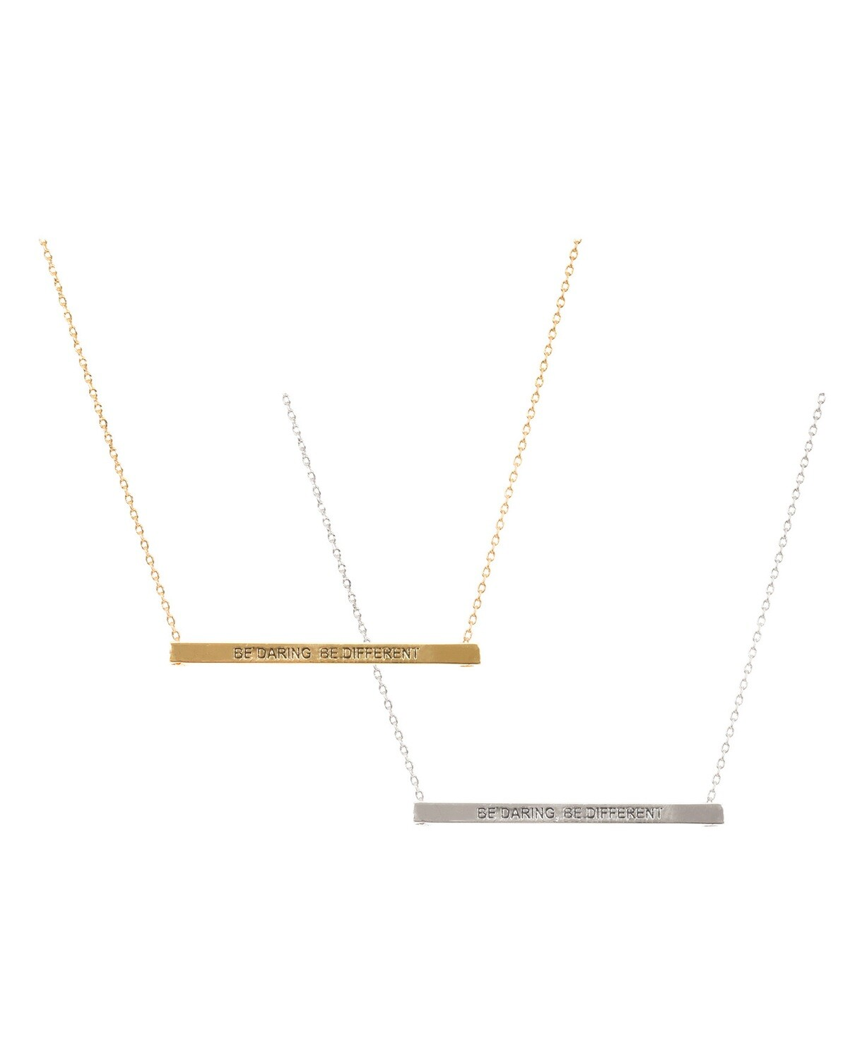 Be Daring, Be Different Bar Necklace