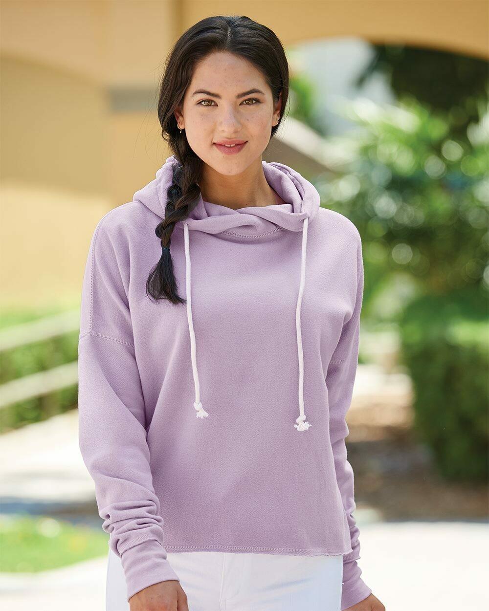 Ladies Zen Lounge Fleece Hi-Lo Hooded Sweatshirt