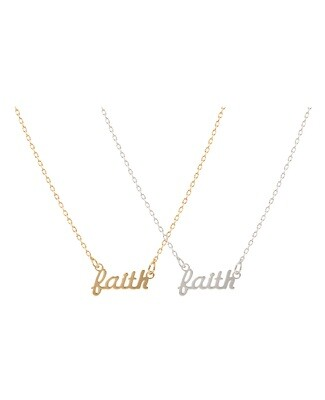 Faith Script Necklace