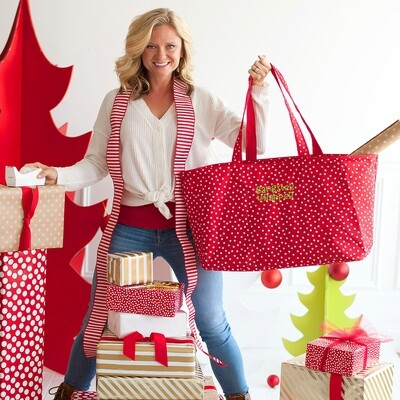 Red Scattered Dot Gangster Wrapper Ultimate Tote