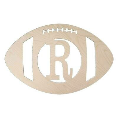 Football Wood Monogram