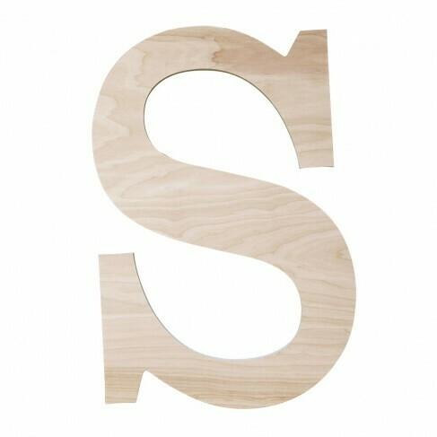 Classic Single Initial Wood Monogram