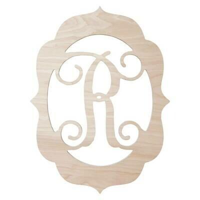Fancy Frame Wood Monogram