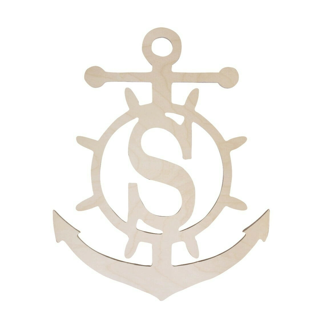 Anchor Wood Monogram