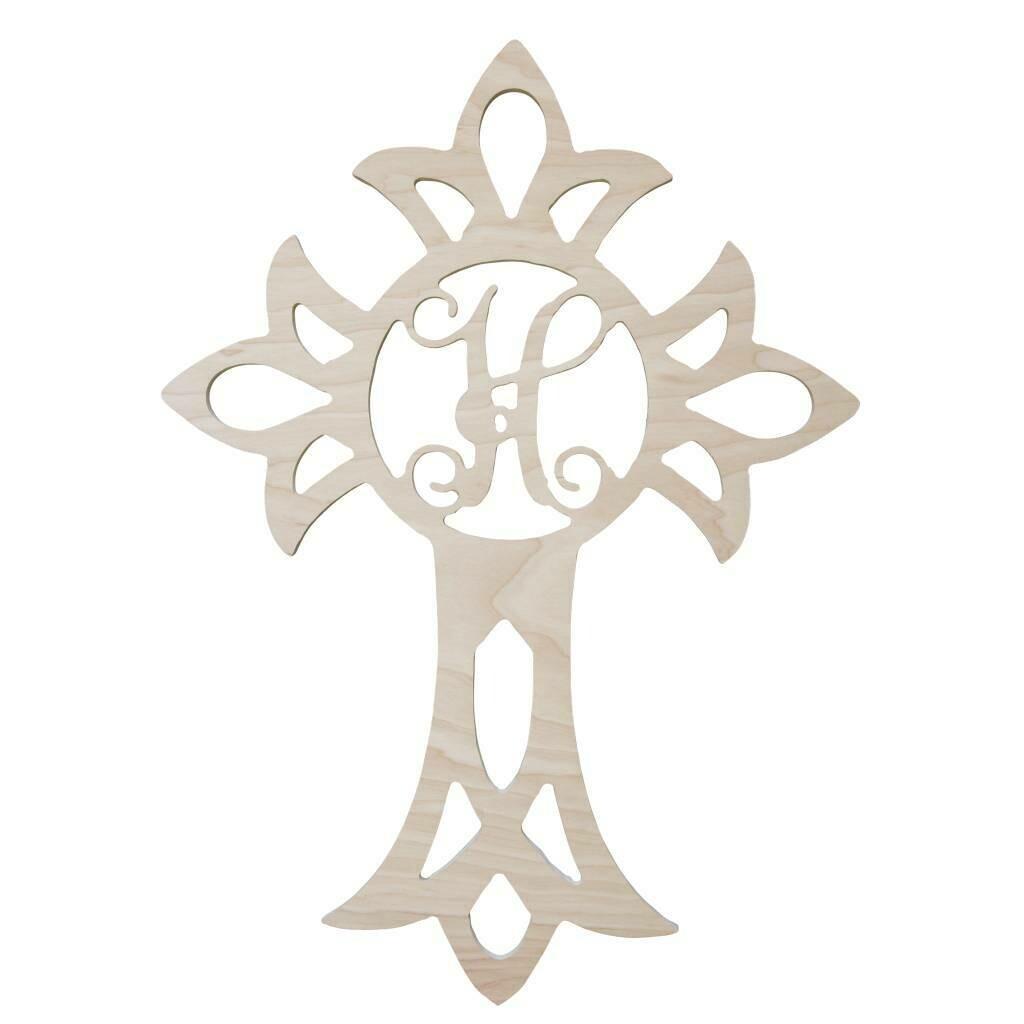 Cross Wood Monogram