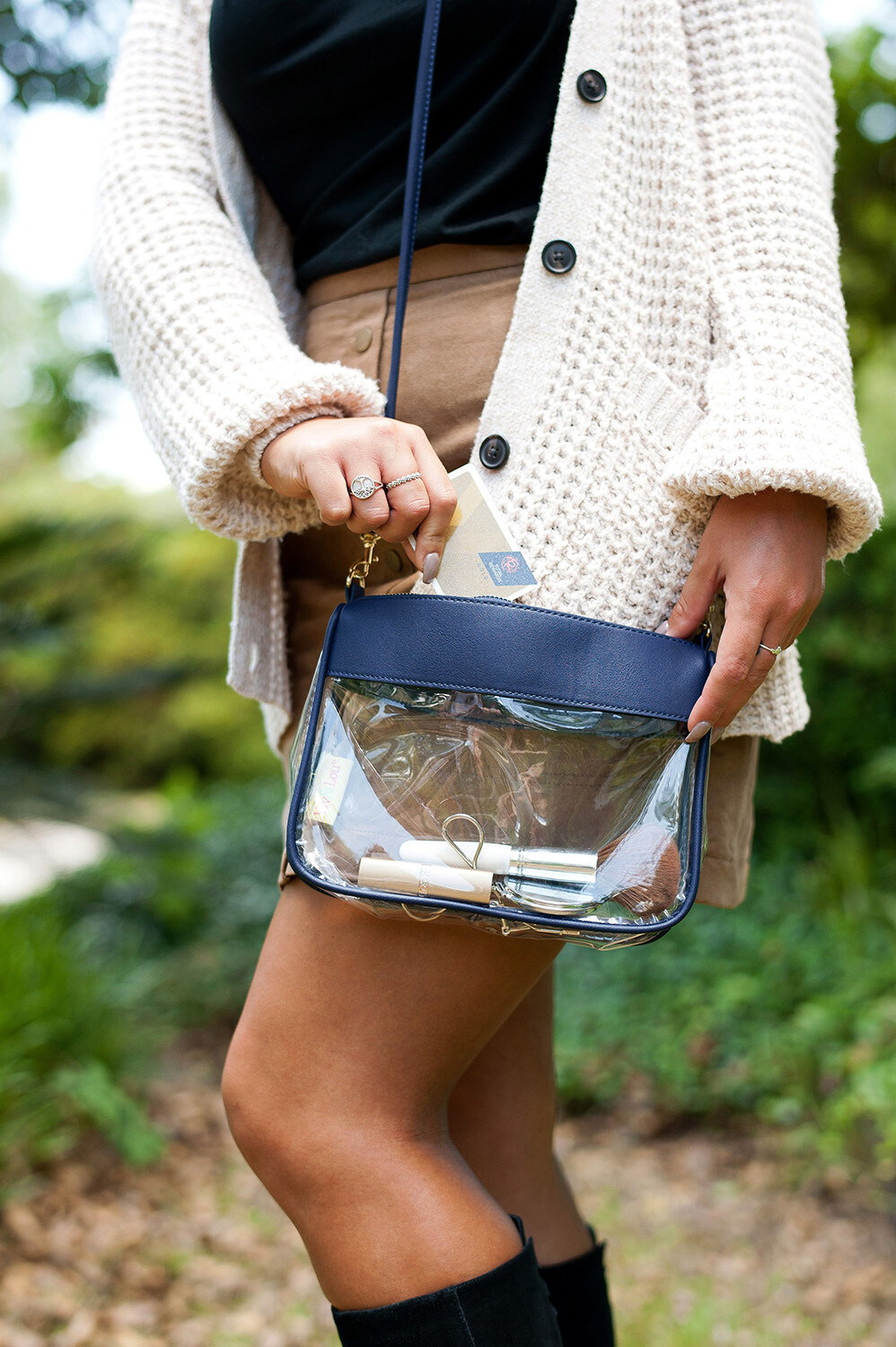 Navy Addison Purse