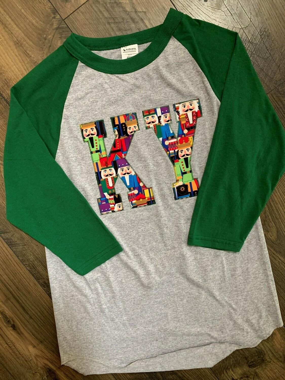 Adult KY Nutcracker Raglan Baseball T-Shirt