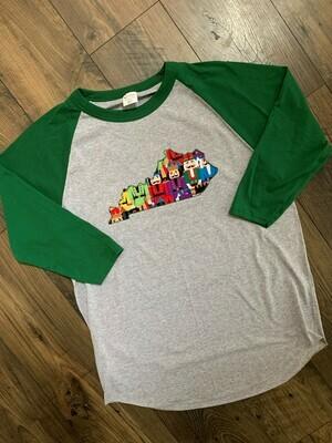 Youth Kentucky State Nutcracker Raglan Baseball T-Shirt