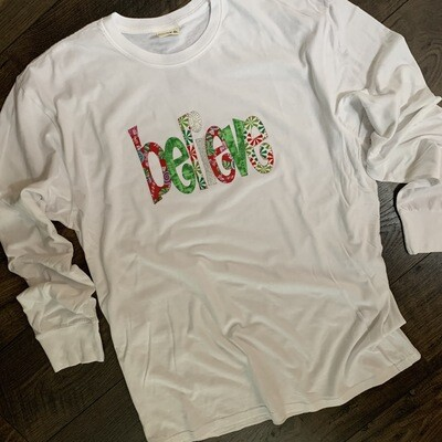 Youth Believe Whimsical Long Sleeve T-Shirt